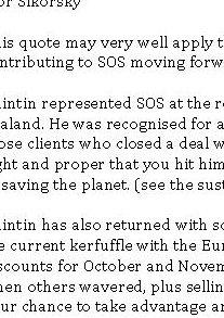 SOS October 2011 Newsletter